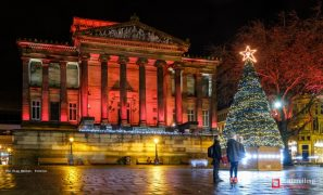 This year's Christmas Tree will be on the Harris balcony Pic: Paul Melling