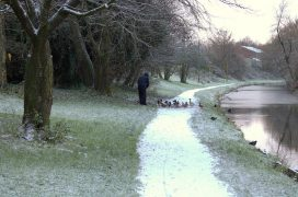 A freezing scene on the Lancaster Canal Pic: Tony Worrall