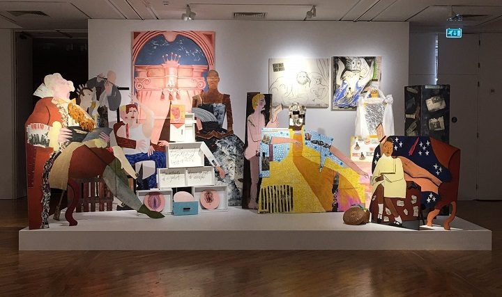 Lubaina's work 'A Fashionable Marriage' from 1987