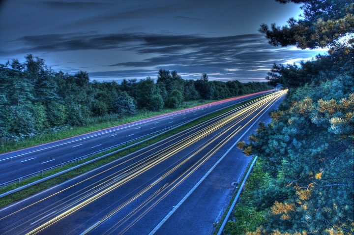 Light trails on the M55 Pic: Mick Craig