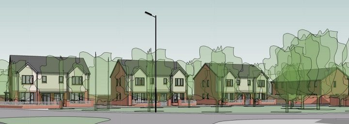 A view of the proposed development from Watling Street Road