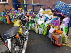Some of the goodies arriving at the RSPCA