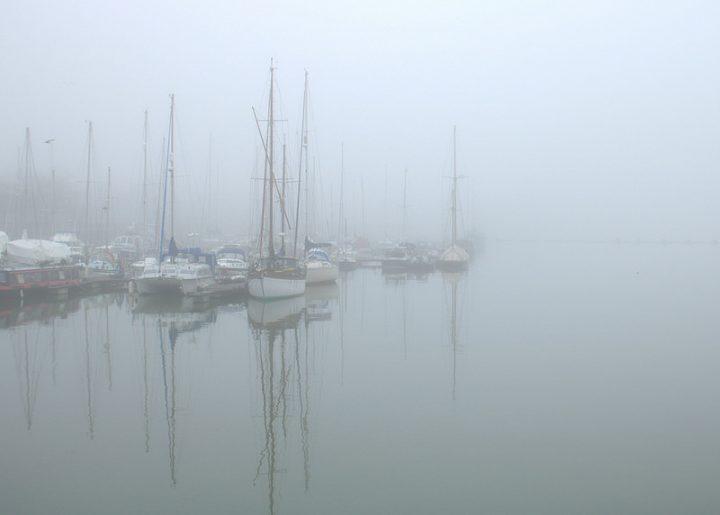 Fog on Preston Marina Pic: Tony Worrall
