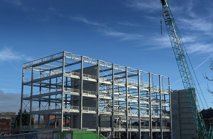 Building at the Preston campus in late 2017 Pic: Tony Worrall