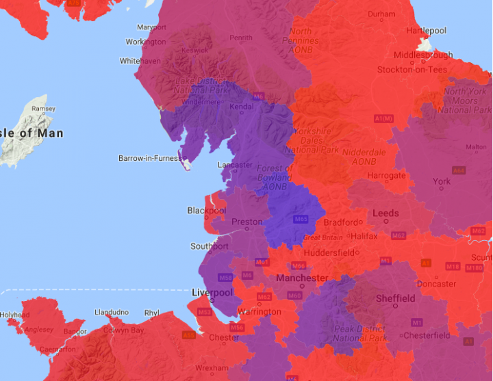 The flu map auto-updates based on new cases being submitted