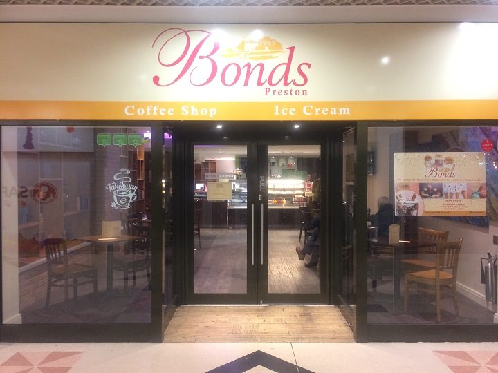 Bonds is where Mundo Tapas used to be in the Guild Hall arcade