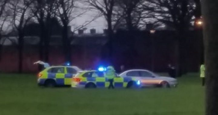 Police at Ribbleton Park