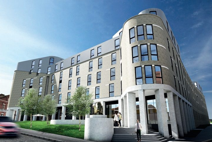 The proposed Sizer House flats as seen from the corner of Moor Lane and Castle Street