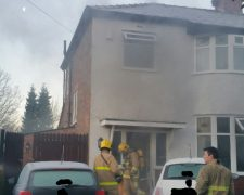 The scene in Cromwell Road on Sunday morning Pic: Preston Fire Station