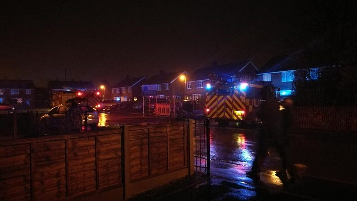 Firefighters were called to the street in Lea after reports of a 'loud bang' Pic: Benny Mc'Nally