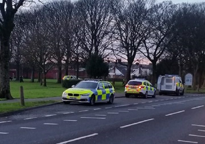 Police in Blackpool Road