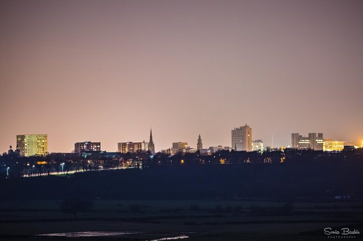 Preston's skyline as viewed from Cuerdale Lane Pic: Sonia Bashir