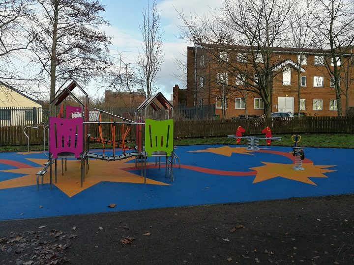 Another view of the new toddler play area at Euston Street Park