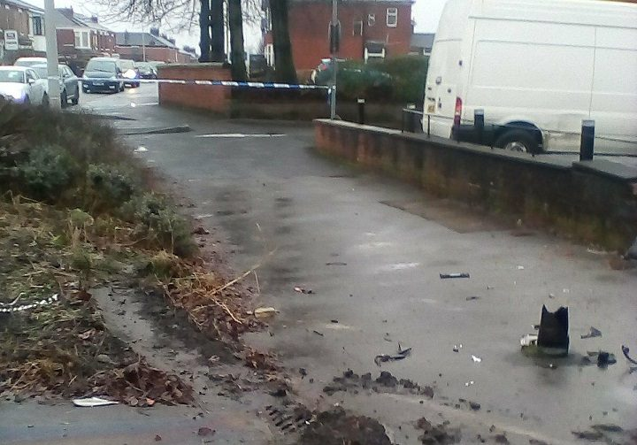 Police have taped off part of Lytham Road following the crash