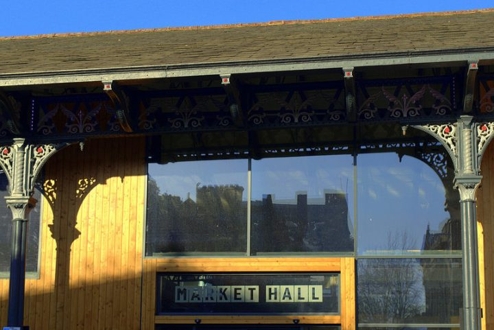 Exterior of the new market hall Pic: Tony Worrall