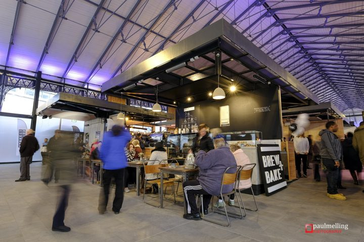 Inside the new Preston Market hall