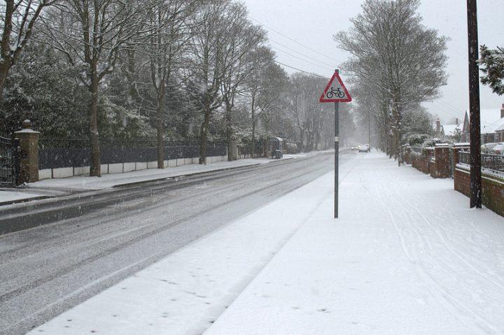 Snow in Ashton-on-Ribble Pic: Tony Worrall