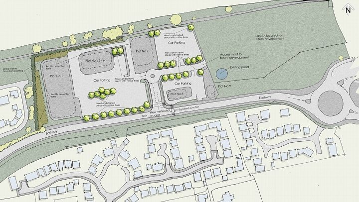 An overhead view of how the Eastway Hub would be laid out