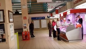 Some of the last traders getting their meat at Preston Market