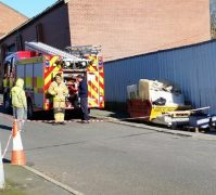 Fire service put a cordon in place around the building while the fire was dealt with