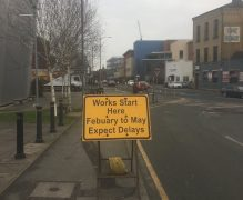 Sign in Fylde Road warnings of delays during the works Pic: thatgeekychap
