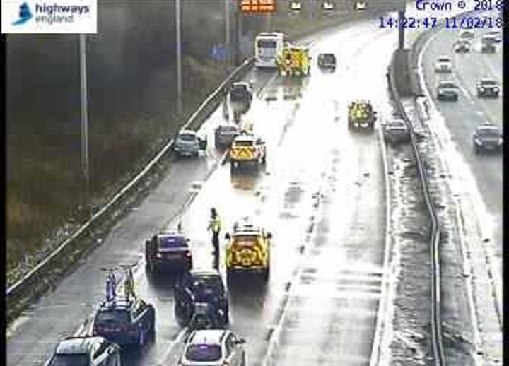View of the scene on trhe M6 Pic: Highways England