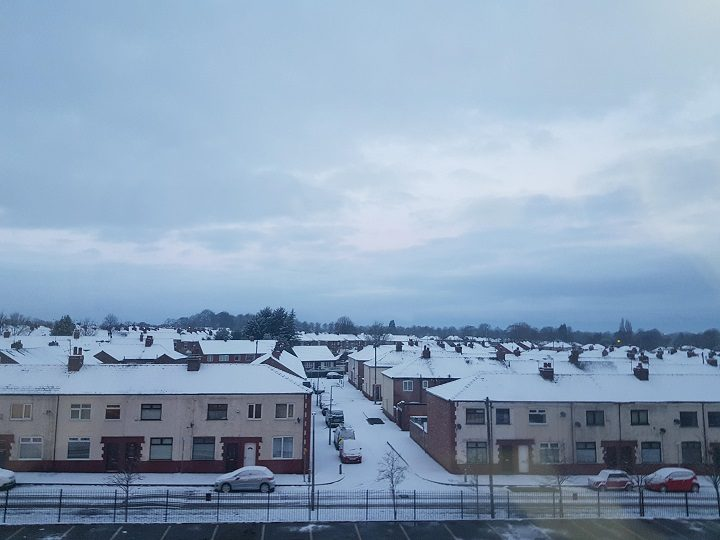 Snowy rooftops across Preston Pic: Johnny Knight