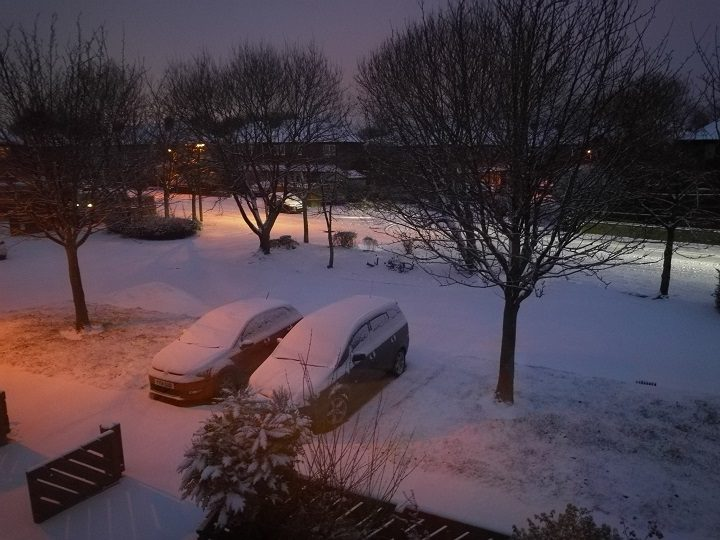 Early morning snow view in Ribbleton Pic: Gill