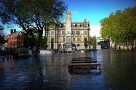A damp Preston Flag Market after a rain storm Pic: Tony Worrall