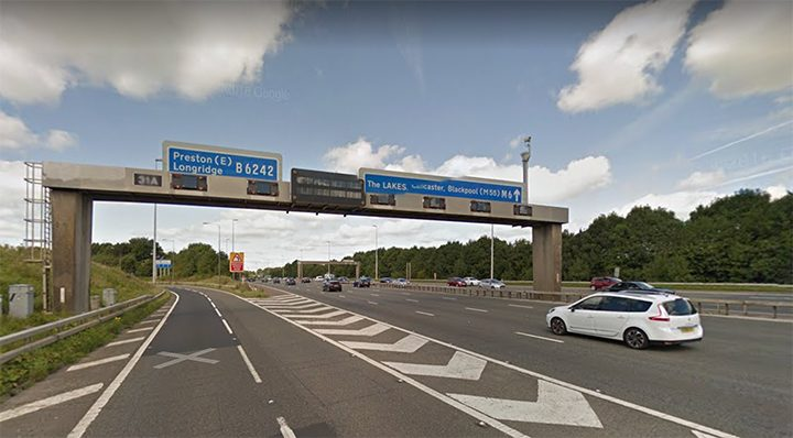 Junction 31a on the M6 Pic: Google