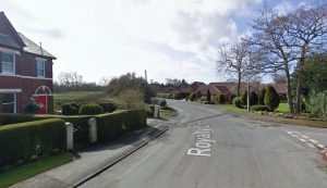 The men were seen in Balmoral Road and Royalty Lane Pic: Google