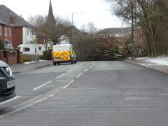 Police on the scene in Brownedge Road Pic: Tony Houston