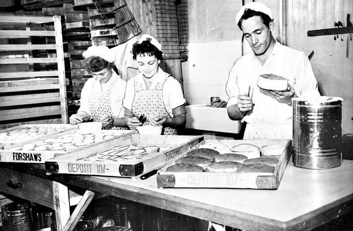 At Forshaws Bakery in Bamber's Yard in 1960