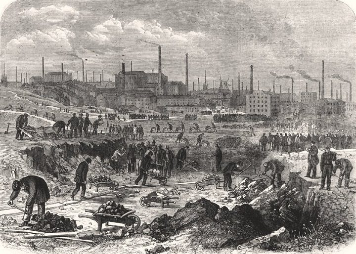 Engraving c.1862 from The Illustrated London News detailing the construction of Moor Park - Preston was said to be the inspiration for Dickens 'Hard Times' Pic: Preston Digital Archive
