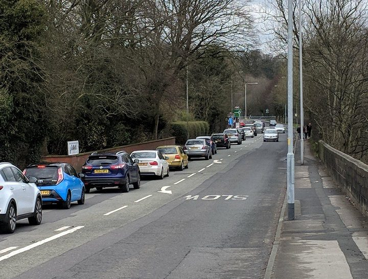 Traffic is also busy in Penwortham Pic: Chris Hough