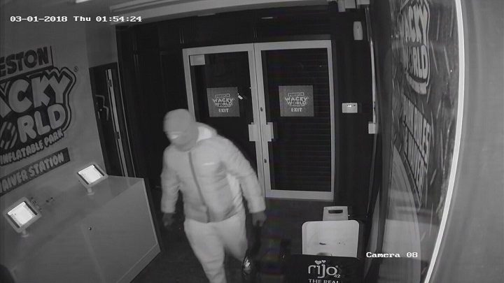 Picture released by Wacky World following the break-in