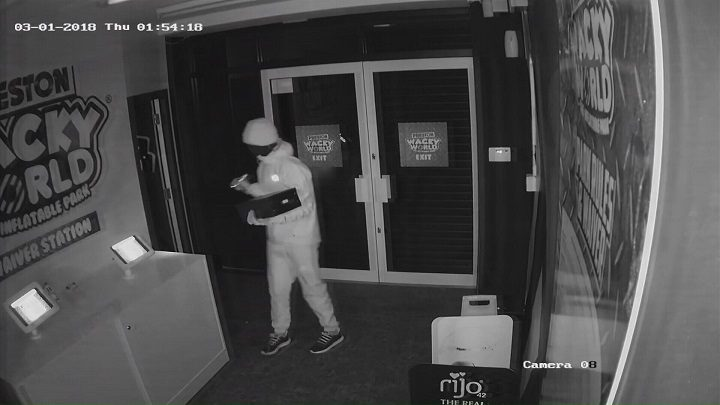 A second man pictured in CCTV footage