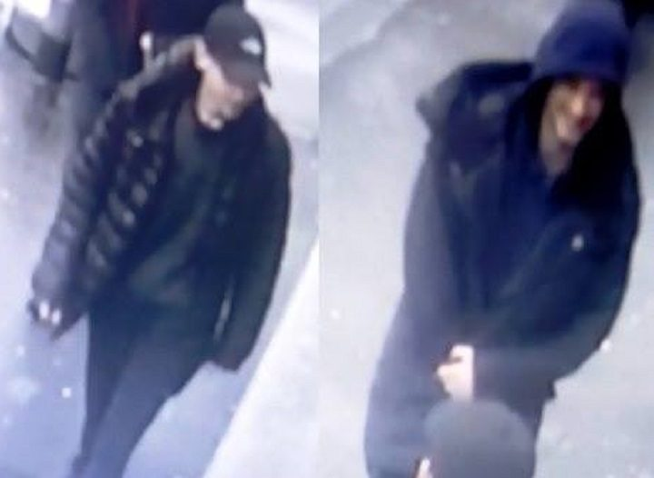 Two men pictured in CCTV image released by police