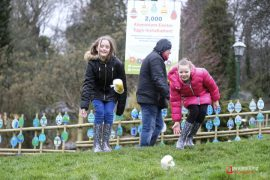 Egg rolling for Easter Bank Holiday Monday in Avenham Park