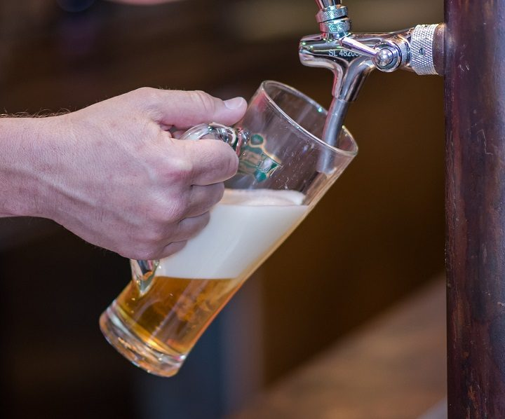A beer being poured Pic: Anestiev