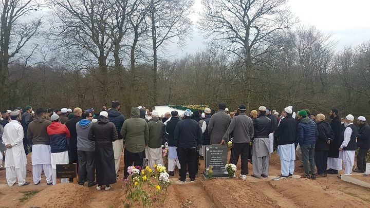 Hundreds of mourners turned out to pay their respects to Mr Ahmed at the funeral