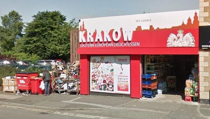 The Krakow store in New Hall Lane Pic: Google