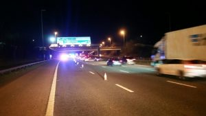 Lanes were closed on the M6 throughout Sunday evening Pic: LancsRoadPolice
