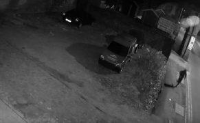 One of the men shown on CCTV running near the scene