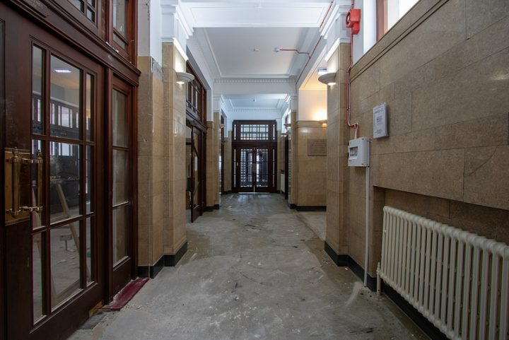 Inside the former Docks offices Pic: ScrappyNW