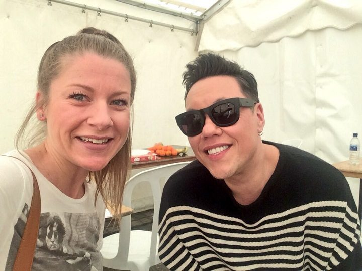 Amy Farnworth with Gok Wan