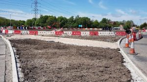 Work at the Broad Oak roundabout Pic: LancsCityDeal