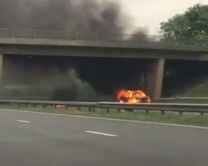 The fire on the M61 near Rivington Services Pic: Alex Nicole-Bibby