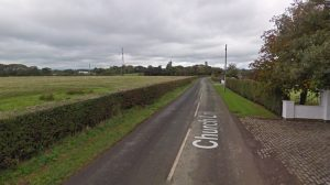Church Lane where the crash happened Pic: Google