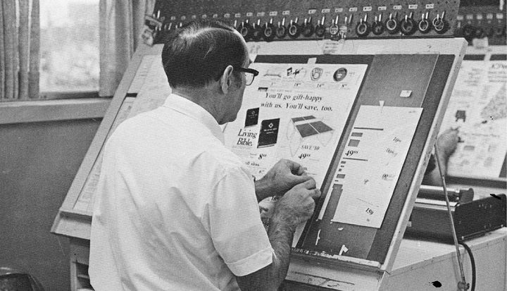 This is how they made magazines and the like before computers
